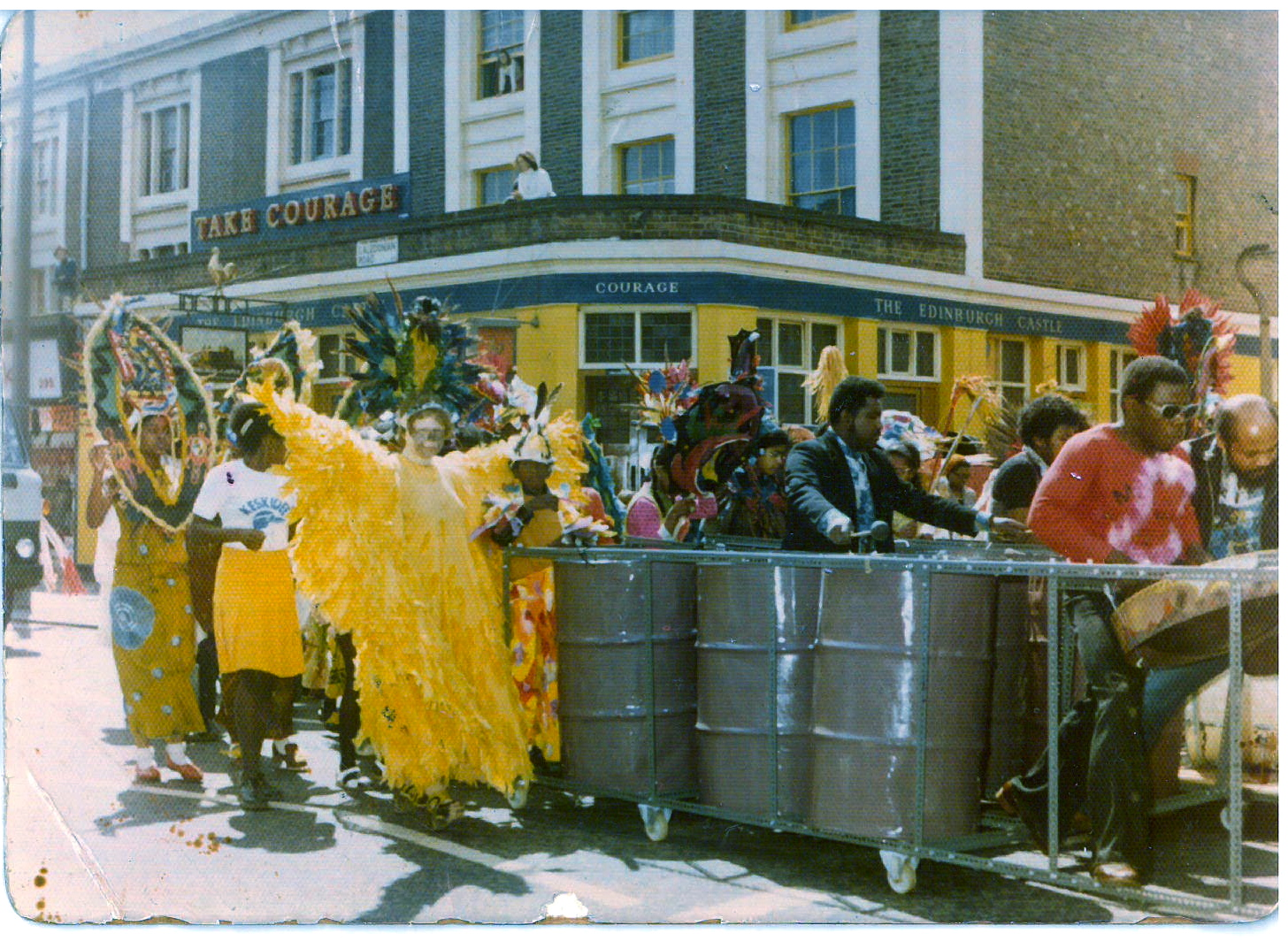 Here's my dad at the Notting Hill Carnival