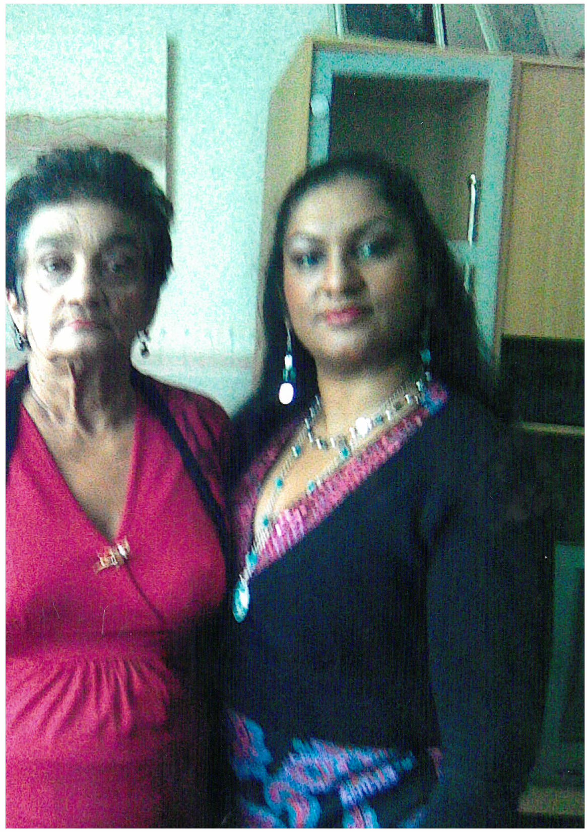 My last photo of me and my mum before she died