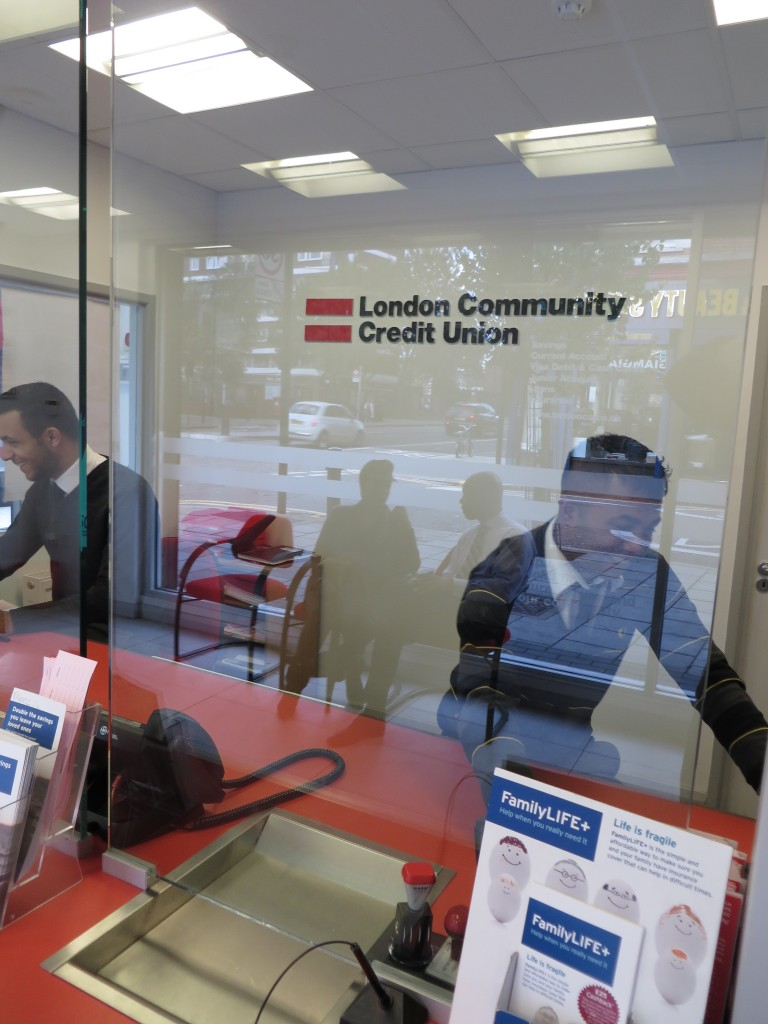 Mahbub at the helm in the Mare Street branch of the London Community Credit Union